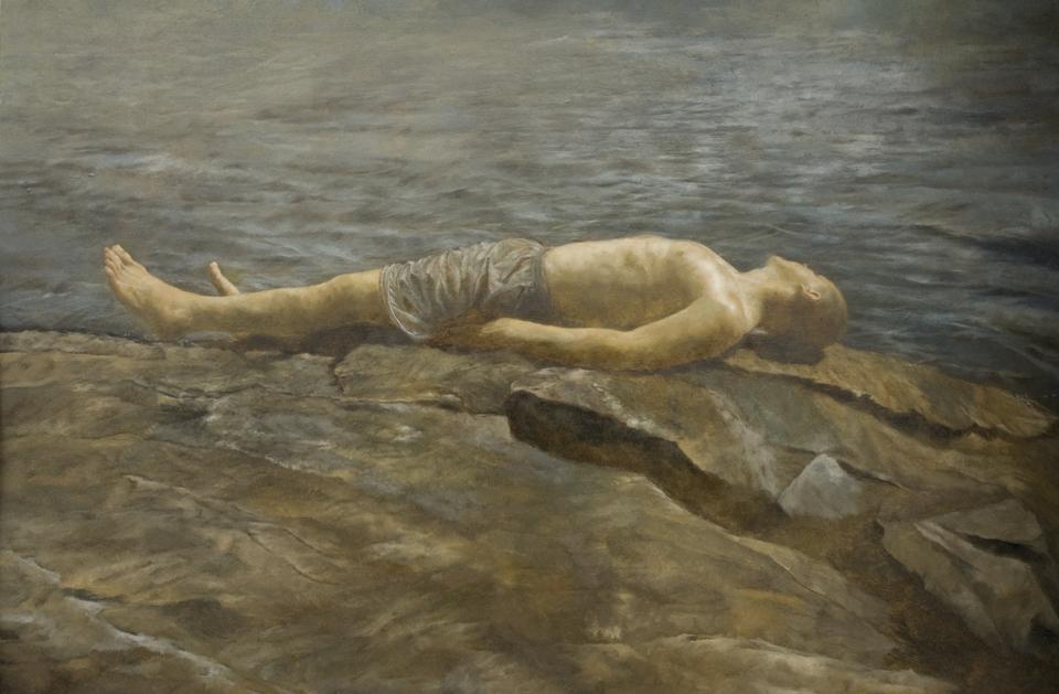 Baptism, Oil on Panel, SOLD