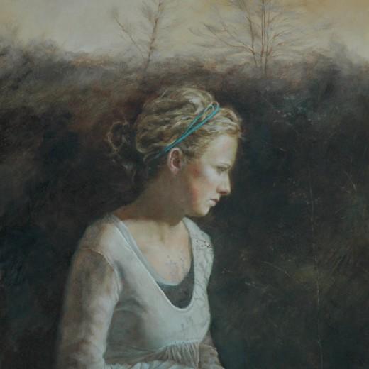 Winter's Light, Oil on panel, SOLD