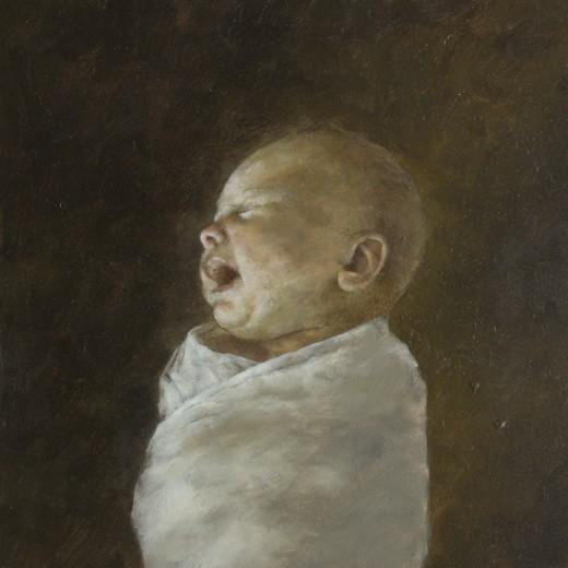 Infant, Oil on panel