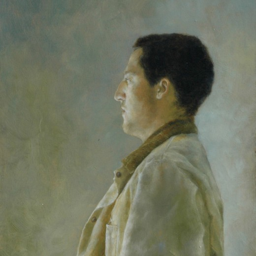 Portrait R. Miles, Oil on Panel