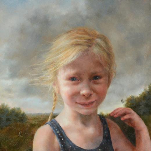 Childhood, Oil on Panel