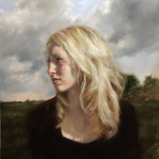 Self Portrait with Shadows, oil on panel